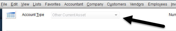 Edit Inventory Asset account