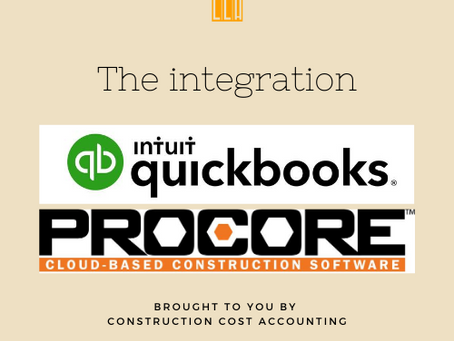CONSTRUCTION ACCOUNTING BASIS - THE INTEGRATION BETWEEN PROCORE AND QUICKBOOKS