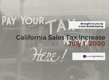 California Sales Tax Increase - Irvine Newest Sales & Use Tax Rate