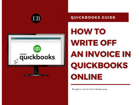 How To Write Off An Invoice in QuickBooks Online?