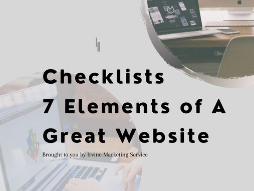 Checklists 7 Elements of A Great Website