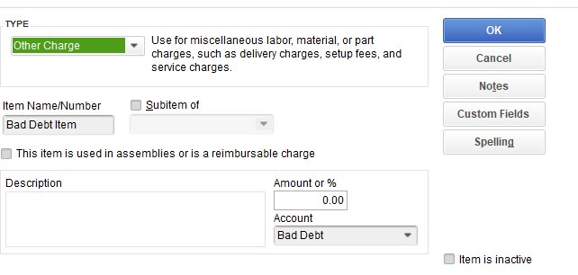 Write off an invoice in Quickbooks step 3