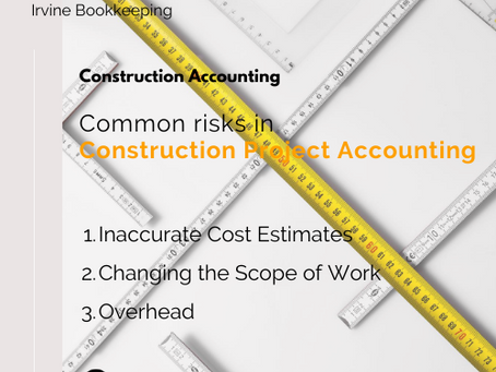 Common risks in Construction Project Accounting