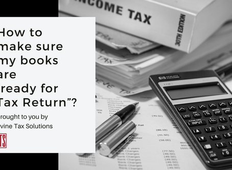 "How to make sure my books are ""ready for Tax Return""?"