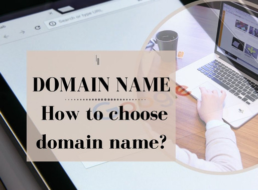 Domain name: How to choose a domain name?