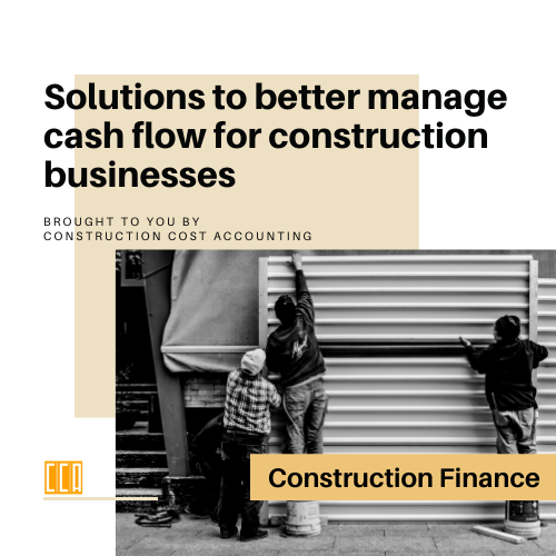 cash flow management construction business