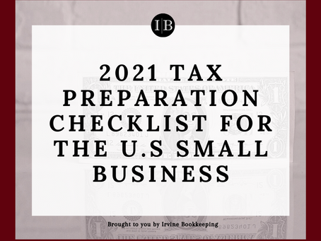 2021 Tax preparation checklist for U.S Small Business