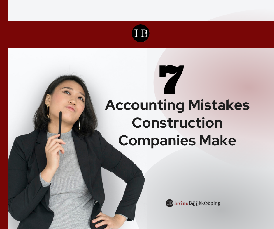 accounting mistakes construction