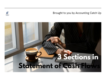 3 Sections in Statement of Cash Flows