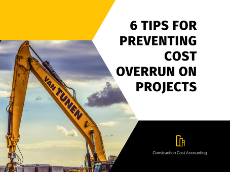 6 Tips for Preventing Cost Overrun on Projects