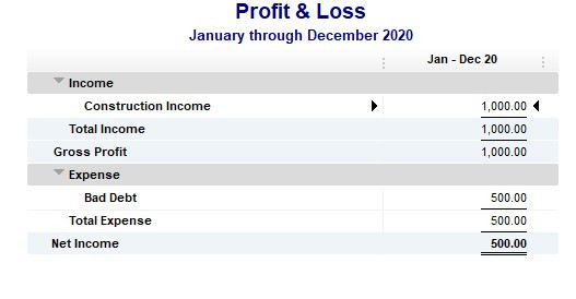 Write off an invoice in Quickbooks final step