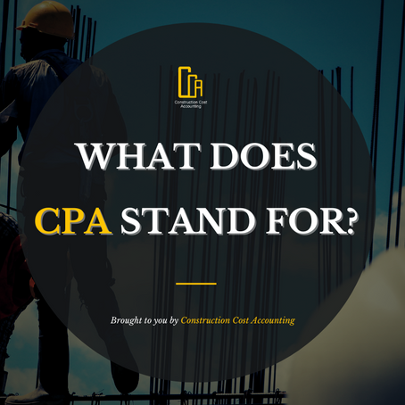 Accounting: What does CPA stand for?