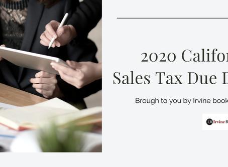 2020 California Sales Tax Due Date