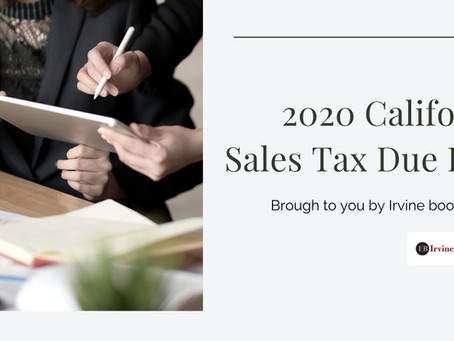 2020 California Sales Tax Due Date