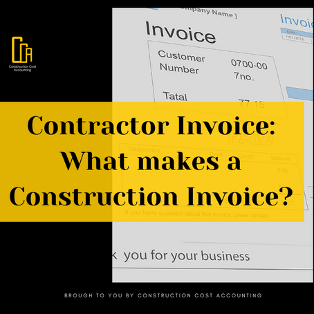 Contractor Invoice: What makes a Construction Invoice?