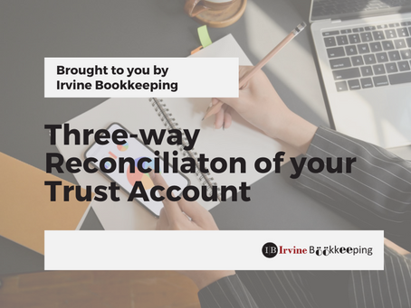 Three-way reconciliation of your trust account