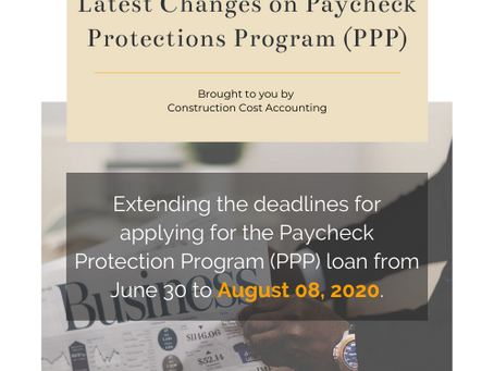 Latest Changes on Paycheck Protections Program (PPP) for Contractors