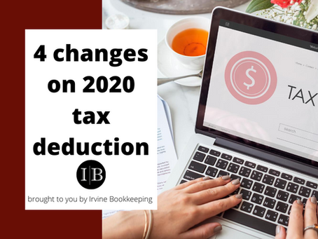 4 changes on 2020 tax deduction