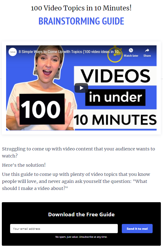 landing page video two heads
