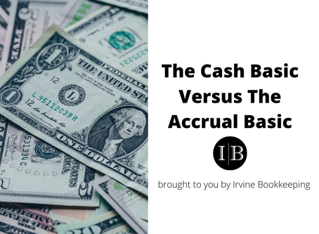 The Cash Basic Versus The Accrual Basic