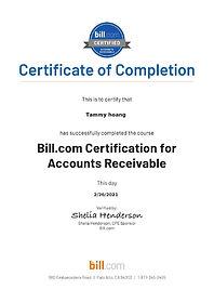 Bill.com - Accounts Receivable Certifica
