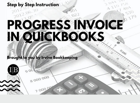Progress Invoice in Quickbooks - Step by Step Instruction
