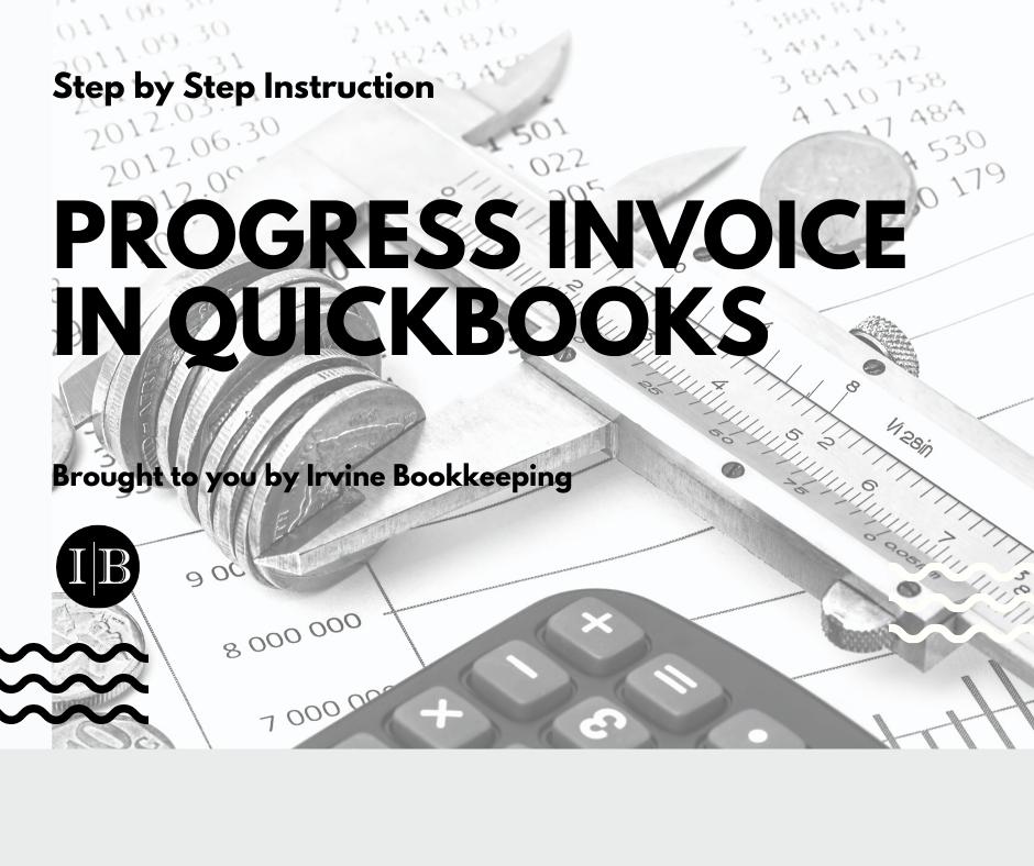 progress invoice in quickbooks