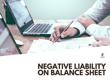 NEGATIVE LIABILITY ON BALANCE SHEET