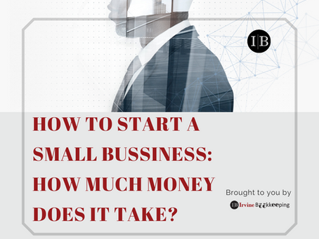 How to start a small bussiness: How much money does it take?