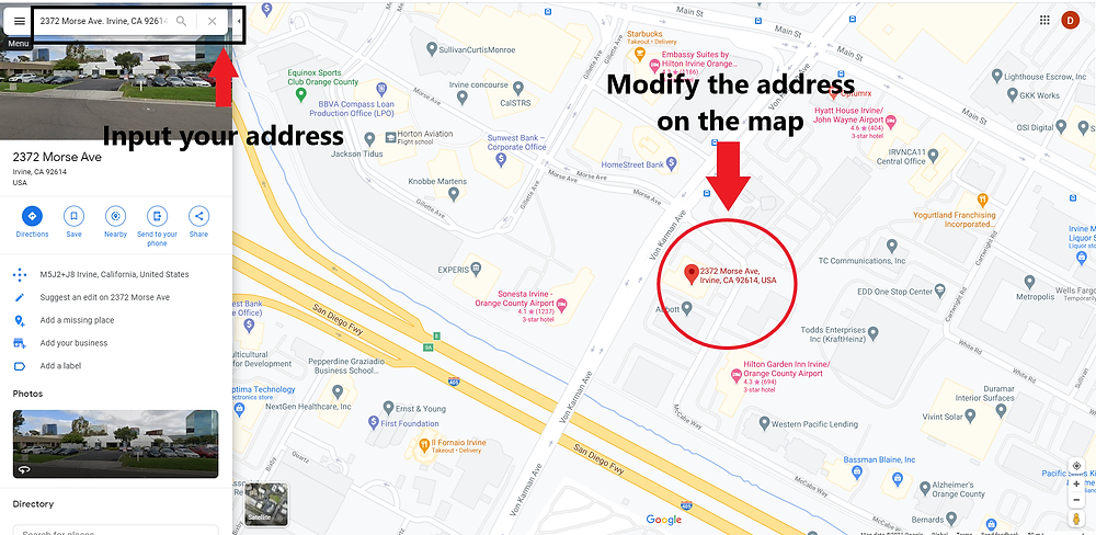 Embed Google map in website