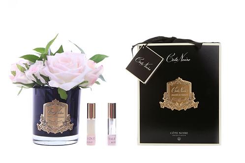 Ароматизированный букет French Rose Bouquet in Black Glass