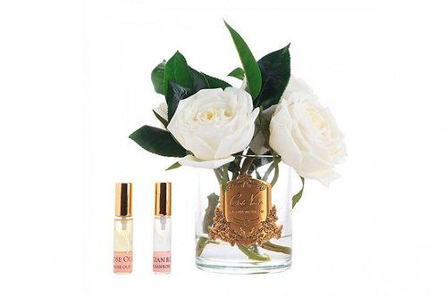 Ароматизированный букет Camelia Roses in Clear Glass - Pink