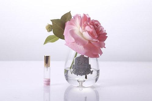Ароматизированный букет Tea Rose Clear Glass - White Peach