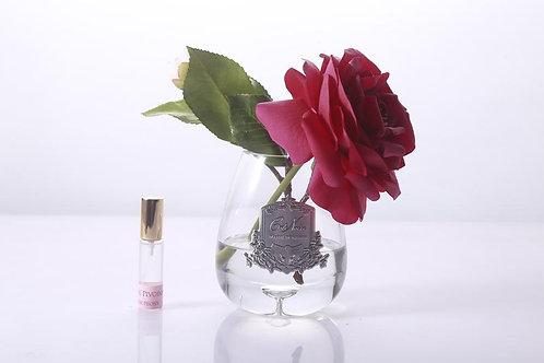 Ароматизированный букет Tea Rose Clear Glass - Carmine Red