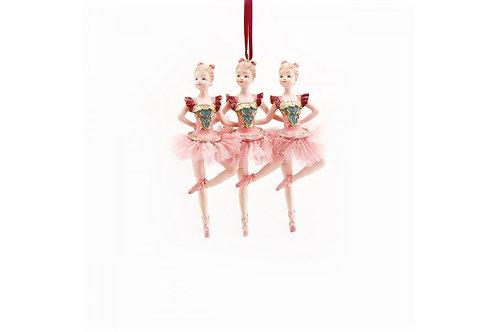 Елочная игрушка Три балерины