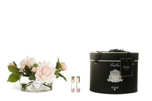Ароматизированный букет Luxury Oval in Clear Glass - French Pink Roses