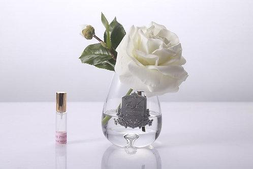 Ароматизированный букет Tea Rose Clear Glass - Ivory White