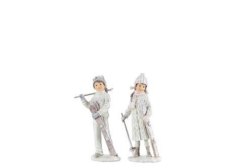 Статуэтка Дети на лыжах