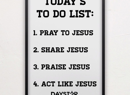 The Jesus To Do List