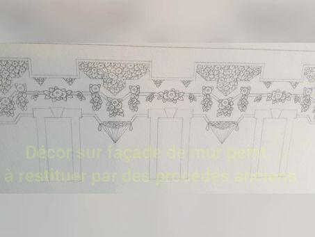 Restitution de décor peint sur façade