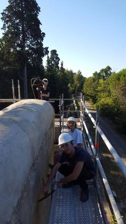 Travaux restauration du moulin de Mirama