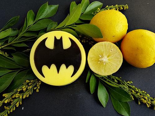 Batman soap ( lemon juice, VitB & charcoal )