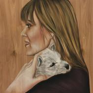 Nupastel Portrait On Wood