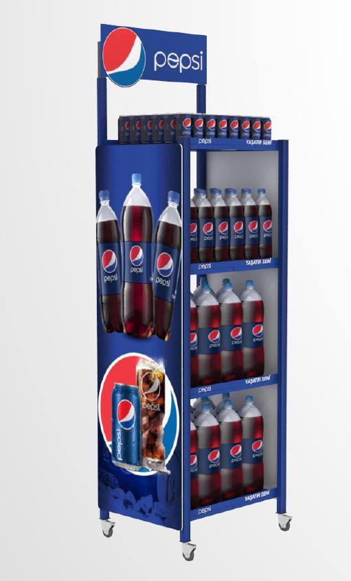 Katlanır Metal Stand | Pepsi