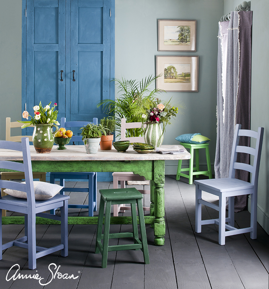 Spring Dining Room, Duck Egg Blue Wall P