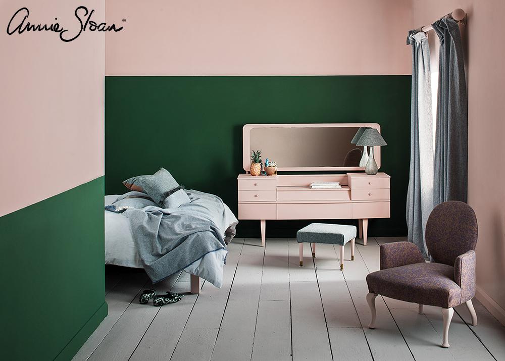 Antoinette and Amsterdam Green bedroom,
