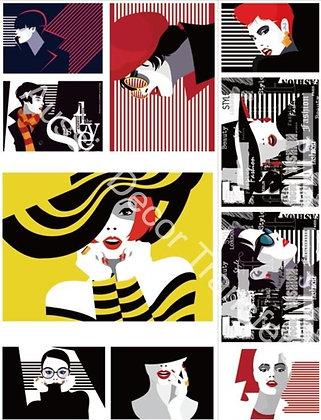 Pop Art Style I  - Transfer by Aussie Decor Transfers