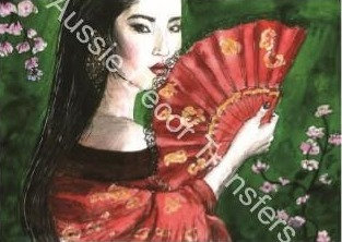 Geisha - Transfer by Aussie Decor Transfers