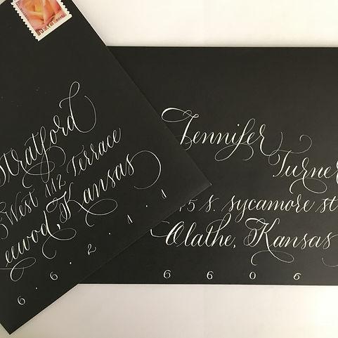 Black envelopes with white ink.JPG
