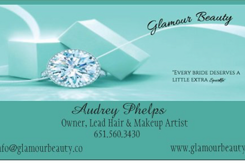 Glamour Beauty Business Cards